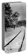 Train Tracks In The Snow Portable Battery Charger
