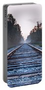 Train Tracks To Nowhere Portable Battery Charger
