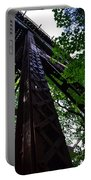 Train Trestle In The Woods Portable Battery Charger