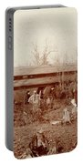 Train Wreck, 1890s Portable Battery Charger