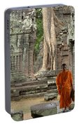 Tranquility In Angkor Wat Cambodia Portable Battery Charger