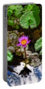 Tranquility - Lotus Flower Koi Pond By Sharon Cummings Portable Battery Charger
