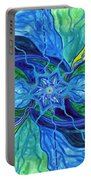 Tranquility Portable Battery Charger by Teal Eye  Print Store