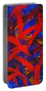 Transitions With Blue And Red  Portable Battery Charger