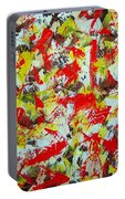 Transitions With Yellow Brown And Red  Portable Battery Charger