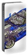 Transparent Car Concept Made In 3d Graphics 1 Portable Battery Charger