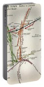 Transport Map Of London Portable Battery Charger