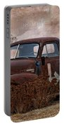 Transportation - Rusted Chevrolet 3100 Pickup Portable Battery Charger