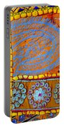 Travel Shopping Colorful Tapestry 9 India Rajasthan Portable Battery Charger