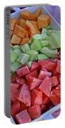 Tray Of Melon Chunks Art Prints Portable Battery Charger
