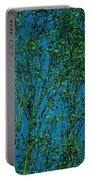 Tree Abstract Blue Green Portable Battery Charger
