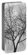 Tree Abstract In Black And White Portable Battery Charger