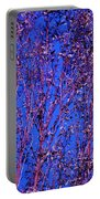 Tree Abstract Purple Blue  Portable Battery Charger