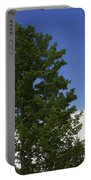 Tree Against A Cloudy Blue Sky In Vermont Portable Battery Charger
