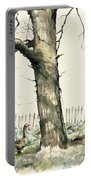 Tree And Geese Portable Battery Charger