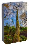 Tree And Rocks Portable Battery Charger