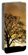 Tree At Golden Sunrise Portable Battery Charger