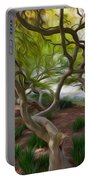 Tree At Norfolk Botanical Garden Portable Battery Charger