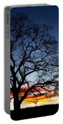 Tree At Sunrise Portable Battery Charger