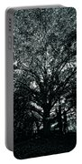 Tree Black And White Portable Battery Charger