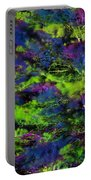 Tree Branches Lit With Abstract Colorful Projection Portable Battery Charger