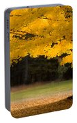 Tree Canopy Glowing In The Morning Sun Portable Battery Charger