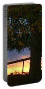 Tree In The Sunset Portable Battery Charger
