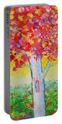 Tree Of Life In Spring Portable Battery Charger by Ana Maria Edulescu