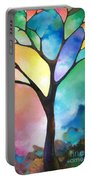 Original Art Abstract Art Acrylic Painting Tree Of Light By Sally Trace Fine Art Portable Battery Charger