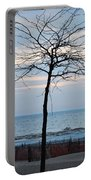 Tree On Beach Portable Battery Charger