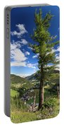 tree over Cordevole valley Portable Battery Charger