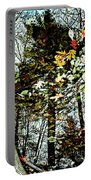 Tree Reflected In Leaves Portable Battery Charger