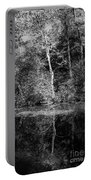 Tree Reflection In Chesapeake And Ohio Canal Portable Battery Charger