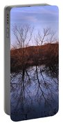 tree reflection on Wv pond Portable Battery Charger