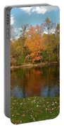 Tree Reflects Into The River Portable Battery Charger