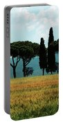 Tree Row In Tuscany Portable Battery Charger