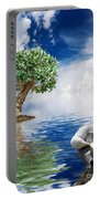 Tree Seagull And Sea Portable Battery Charger
