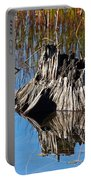 Tree Stump And Reeds Portable Battery Charger