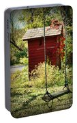 Tree Swing By The Outhouse Portable Battery Charger