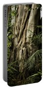 Tree Trunk And Ferns Portable Battery Charger
