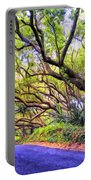 Tree Tunnel On The Big Island Portable Battery Charger