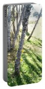 Trees At A Picnic Portable Battery Charger