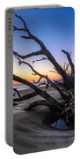 Trees At Driftwood Beach Portable Battery Charger