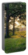 Trees At Sunrise Portable Battery Charger