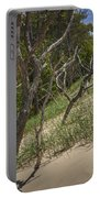 Trees At The Edge Of A Dune At Silver Lake Portable Battery Charger