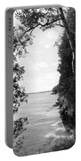 Trees At The Lakeside, Cave Point Portable Battery Charger
