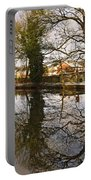 Trees Beside The Wintry Rolleston Pond Portable Battery Charger