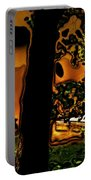 Melted Sunset Abstract Portable Battery Charger