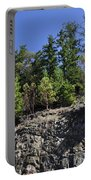 Trees Growing On The Edge Portable Battery Charger