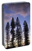 Trees In Silhouette Portable Battery Charger
